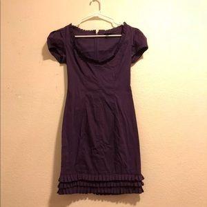 Bebe Purple Ruffle Dress SIZE XS